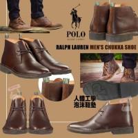6底: Ralph Lauren Polo CHUKKA 男裝啡色皮鞋