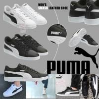 6底: Puma Smash 男裝真皮鞋 (黑色)