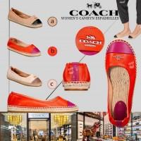 7中: Coach 平底草鞋 (白配啡色)