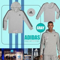 7中: Adidas Hoodie 中童長袖有帽上衣 (淺灰色)