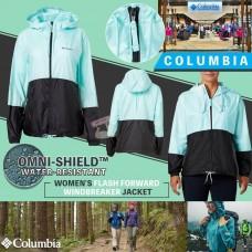 8中: Columbia Omni-Shield 女裝防水風褸 (淺綠配黑)