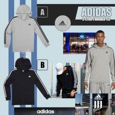 8中: Adidas Hoodie 中童長袖有帽上衣 (黑色)