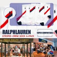 8中: Ralph Lauren Polo 1套6對中童長襪 (紅藍白色)