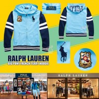 8中: Ralph Lauren Polo 中童拼色綿外套 (藍色)