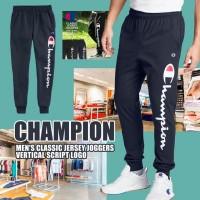 8底: Champion 男裝運動長褲 (直長LOGO深藍色)