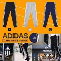 8底: Adidas 中童運動窄腳長褲 (黑色)