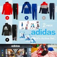 8底: Adidas 中童運動外套連褲套裝 (紅色+黑色)