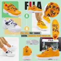 9中: FILA Fast Charge 中童波鞋 (黃色)