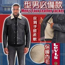 1中: Levis 男裝內毛仿皮外套 (黑色)