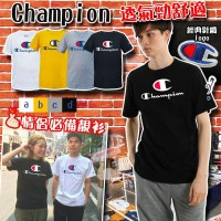1中: Champion 大C LOGO中童上衣 (黑色)