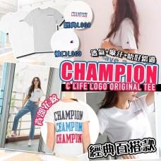 2底: Champion 女裝LOGO上衣 (白色)