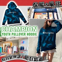 4中: Champion Pullover 中童有帽衛衣 (黑藍混染)