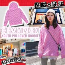 5底: Champion Pullover 中童有帽衛衣 (粉紅色花紋)