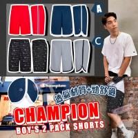 4底: Champion 中童短褲2件裝 (C-黑色花紋+灰色)