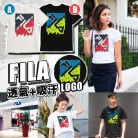 4底: FILA 中童夏日上衣 (黑色藍綠LOGO)