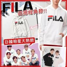 4底: FILA 經典男裝有帽衛衣 (白色)