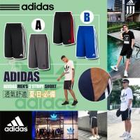4底: Adidas 中童運動短褲2件套裝 (黑配藍)