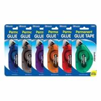 6中: BAZIC Glue Tape 膠水帶 (3個裝-顏色隨機)