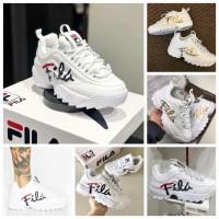 6中: FILA Disruptor 白色老爹鞋 (金字)
