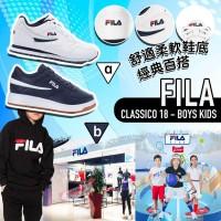 6中: FILA Classico 18 中童波鞋 (白色)