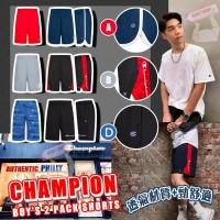 6底: Champion 中童短褲2件裝 (D-藍色LOGO+黑色)