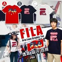 6底: FILA Drip LOGO 中童上衣 (紅色)