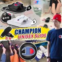 6底: Champion Unisex 大人LOGO拖鞋 (白色)