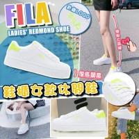 6底: FILA Redmond 女裝休閒鞋 (白色螢光LOGO)