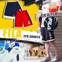 6底: FILA 2件裝中童運動短褲 (深藍+紅色)