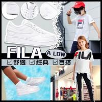 6底: FILA A LOW 中童全白波鞋