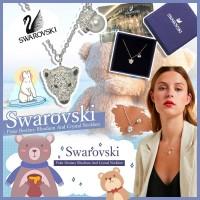 6底: SWAROVSKI 閃石北極熊珍珠吊墜頸鏈