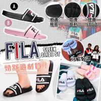 6底: FILA Sleek Slide St 女裝拖鞋 (黑色)