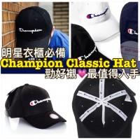 6底: Champion Classic Hat 經典帽 (黑色白LOGO)