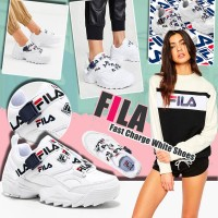 6底: FILA Fast Charge 女裝波鞋 (白色藍帶)