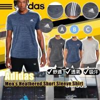 7中: Adidas Heathered 三間透氣短袖上衣 (藍色)
