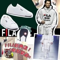 7中: FILA 男裝小白鞋