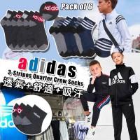 7中: Adidas Quarter Crew 6對裝中童中筒運動襪 (藍色)