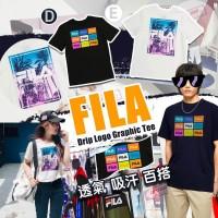 7中: FILA Drip LOGO 中童上衣 (白色樹款)