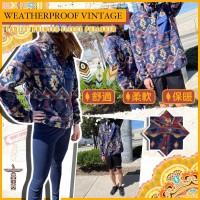 7中: Weatherproof Vintage 休閒衛衣外套 (藍色彩花紋)