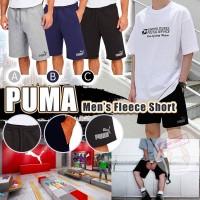 8中: Puma Fleece LOGO 男裝抓絨短褲 (深藍色)