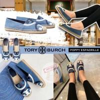 7底: Tory Burch Poppy 帆布草編鞋 (藍色)