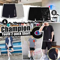 8底: Champion Youth 2件裝中童短褲 (灰色+深藍)