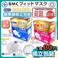 9中: BMC 三層防霧白色口罩 (80個裝)
