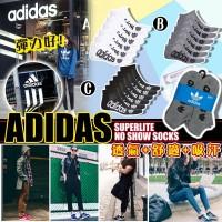 9底: Adidas 大LOGO透氣運動襪 (6對裝)