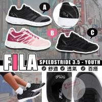 9底: FILA SpeedStride 中童跑鞋 (黑配白色)