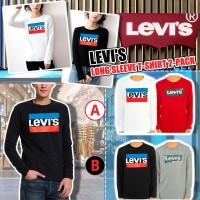 9底: Levis Long Sleeve 2件裝中童長袖上衣 (黑配灰色)