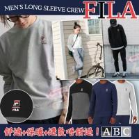 9底: FILA Crew 圓領長袖衛衣 (灰色)