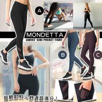 10中: Mondetta Side Pocket 女裝貼身瑜伽褲 (黑灰色)