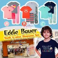 9底: Eddie Bauer 4件中童睡衣套裝 (C款-藍色)