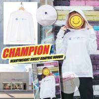 10中: Champion Jersey Graphic 女裝長袖連帽上衣 (白色)